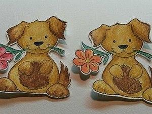 Делаем заготовки для открыток в виде собачек. Ярмарка Мастеров - ручная работа, handmade.