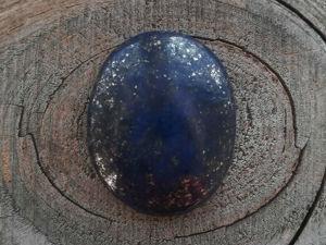 Видео кабошона из лазурита L0017. Ярмарка Мастеров - ручная работа, handmade.