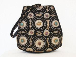 Шедевры рукоделия: винтажные сумочки 1930-1950 годов с камнями и золотным шитьем. Ярмарка Мастеров - ручная работа, handmade.
