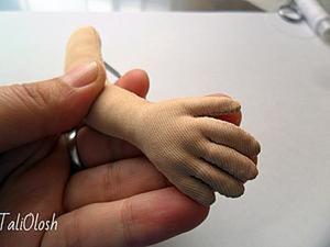 Создание армированной ручки для куклы. Часть 4. Ярмарка Мастеров - ручная работа, handmade.
