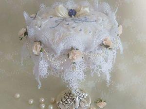 Создаем подушечку для обручальных колец «Айвори в серебре». Ярмарка Мастеров - ручная работа, handmade.