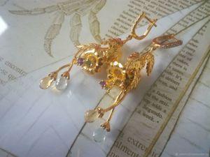Видео серьги  «Золотой колокольчик». Ярмарка Мастеров - ручная работа, handmade.