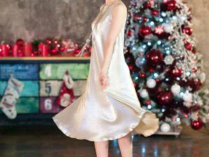 Представляем платье Shine. Оно выполнено из ткани гофре из вискозы с металлизированным напылением. Ярмарка Мастеров - ручная работа, handmade.