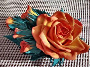 Закрыт — Аукцион на Заколки и броши  «Розы из фоамирана». Ярмарка Мастеров - ручная работа, handmade.