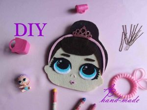 Мастерим сумочку-пенал в форме куклы ЛОЛ. Ярмарка Мастеров - ручная работа, handmade.