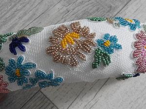 Изготавливаем мягкий ободок с вышивкой «Летнее настроение». Ярмарка Мастеров - ручная работа, handmade.