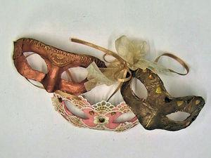 Венецианская маска «Коломбина» на ёлочку своими руками. Ярмарка Мастеров - ручная работа, handmade.