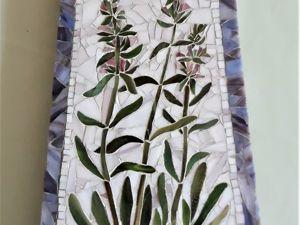 Часы-картина из мозаики  «Время цветов» . Ярмарка Мастеров - ручная работа, handmade.