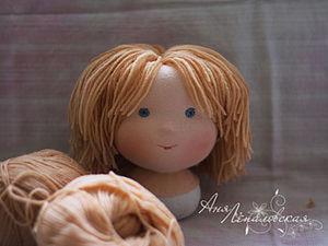 Делаем волосы вальдорфскому мальчику. Ярмарка Мастеров - ручная работа, handmade.