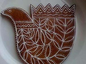 """Роспись козуль """"Птица Горлица"""". Ярмарка Мастеров - ручная работа, handmade."""