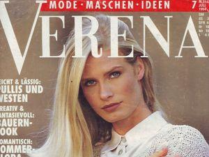 Verena № 7/1994 г. Фото моделей. Ярмарка Мастеров - ручная работа, handmade.