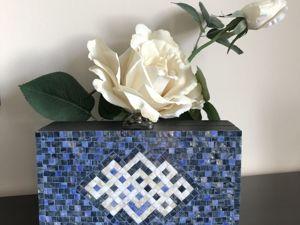 «Реставрируем» шкатулку в технике мозаика. Ярмарка Мастеров - ручная работа, handmade.