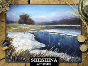 Видео-урок: Рисуем весенний пейзаж сухой пастелью. Ярмарка Мастеров - ручная работа, handmade.