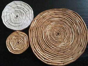 Мастерим подставку под горячее из трубочек Кондопога. Ярмарка Мастеров - ручная работа, handmade.