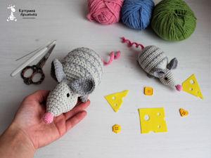 Мышка крючком. Часть1. Ярмарка Мастеров - ручная работа, handmade.