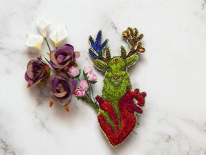 Брошь  «Волшебный олень Ярдигаз». Ярмарка Мастеров - ручная работа, handmade.