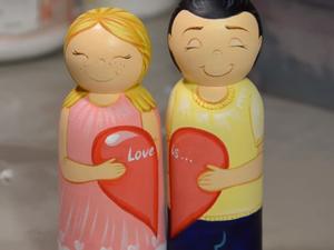 Создаем подарок ко Дню всех влюбленных, парочка в стиле Love is. Ярмарка Мастеров - ручная работа, handmade.