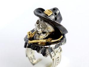 Последний косячок — кольцо миниатюра в готическом стиле. Ярмарка Мастеров - ручная работа, handmade.