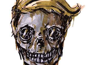 День 359. Графика маркерами  «Болотный зомби» . 6 дней до года. Ярмарка Мастеров - ручная работа, handmade.