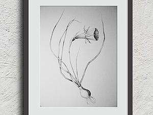 """""""Рисуем цветок"""". Мастер-класс декоративного рисунка.. Ярмарка Мастеров - ручная работа, handmade."""