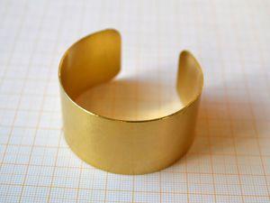 Предзаказ на латунные основы для браслетов. Ярмарка Мастеров - ручная работа, handmade.