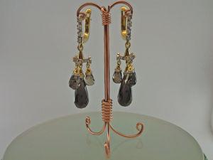Видео: серьги «Бриолеты Раух супер» (золото, бриллианты, раухтопаз). Ярмарка Мастеров - ручная работа, handmade.
