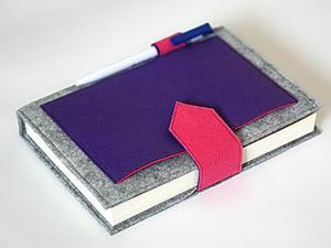 Notebook in Handmade Felt Cover. Livemaster - handmade
