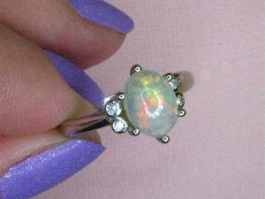 Видео  «Чистый родник»  кольцо с опалом. Ярмарка Мастеров - ручная работа, handmade.