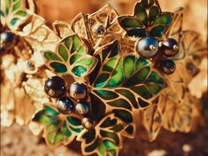 Creating an Exquisite Black Currant Jewelry Set. Livemaster - handmade