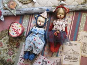 «Цирк приехал...»  Мышки клоун Лоло и соня Лулу. Ярмарка Мастеров - ручная работа, handmade.