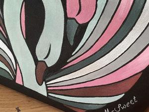 Очарование деталей: «Лебеди розовые» крупным планом. Ярмарка Мастеров - ручная работа, handmade.
