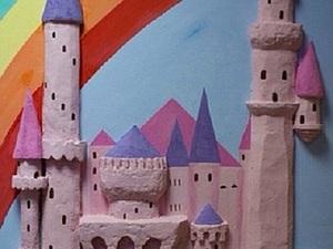 """Делаем панно """"Замок Радуги"""". Ярмарка Мастеров - ручная работа, handmade."""