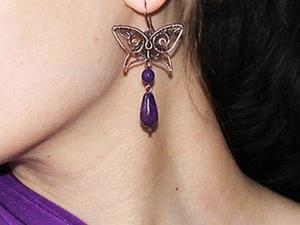 Делаем элегантные серьги с бабочками. Ярмарка Мастеров - ручная работа, handmade.