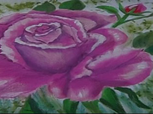 Рисуем на ткани розовую розу. Ярмарка Мастеров - ручная работа, handmade.