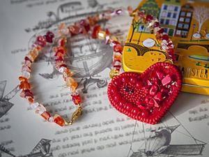 Мастер-класс по вышивке бисером кулона в форме сердца. Ярмарка Мастеров - ручная работа, handmade.