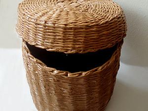 Плетеный короб с крышкой. Ярмарка Мастеров - ручная работа, handmade.