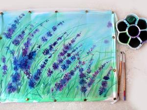 Рисуем лаванду: свободная роспись по шелку. Ярмарка Мастеров - ручная работа, handmade.