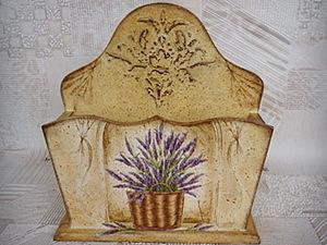 Декорируем салфетницу «Аромат лаванды». Ярмарка Мастеров - ручная работа, handmade.