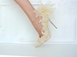 Декор свадебных туфелек. Ярмарка Мастеров - ручная работа, handmade.