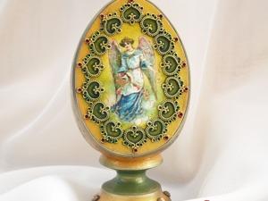 Декорируем пасхальное яйцо «Ангел». Ярмарка Мастеров - ручная работа, handmade.