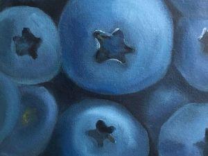 Blueberry Oil Painting. Livemaster - handmade