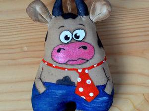 Шьем новогоднюю игрушку «Бычок». Ярмарка Мастеров - ручная работа, handmade.