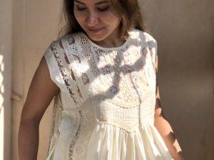 Платье кремовое За пределами нежности. Ярмарка Мастеров - ручная работа, handmade.