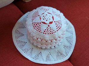 Вяжем шляпу крючком. Ярмарка Мастеров - ручная работа, handmade.