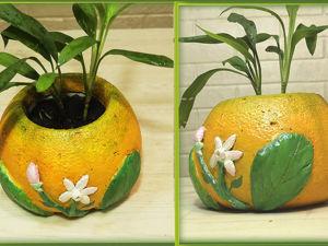 Делаем вазон из бетона «Апельсин» своими руками. Ярмарка Мастеров - ручная работа, handmade.
