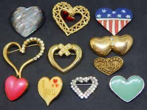 Лот винтажных брошей  «Сердечки». Ярмарка Мастеров - ручная работа, handmade.
