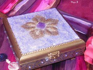Шкатулка для украшений  «Аметистовая» , Подарок женщине. Ярмарка Мастеров - ручная работа, handmade.