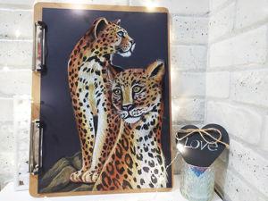 Рисуем леопардов масляной пастелью. Ярмарка Мастеров - ручная работа, handmade.