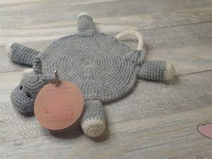 Вяжем крючком бычка — подставку под горячее. Ярмарка Мастеров - ручная работа, handmade.