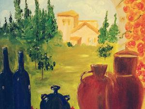Новая картина  на тему ПРОВАНС  « Итальянский натюрморт». Ярмарка Мастеров - ручная работа, handmade.